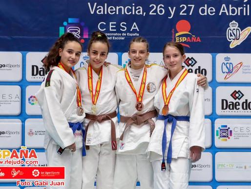 NATALIA LYSOGOR CHERKESOVA, medalla de bronce en el Campeonato de España de Judo Escolar