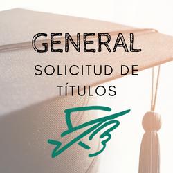 SOLICITUD DE TÍTULOS