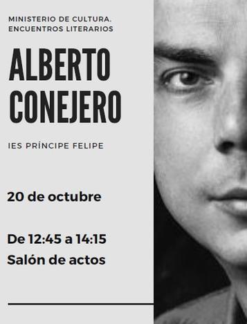 Encuentro literario con Alberto Conejero