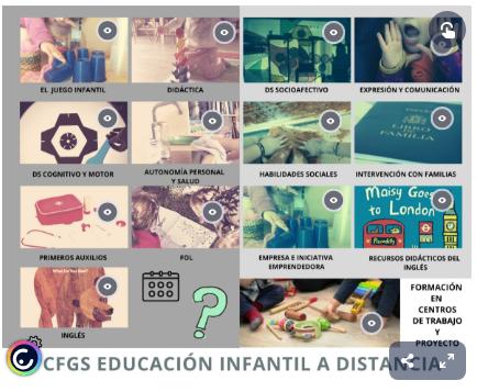 INICIO CURSO DE EDUCACIÓN INFANTIL A DISTANCIA