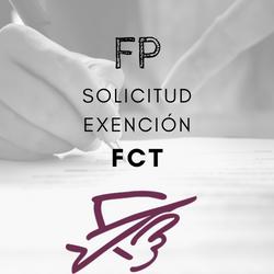 Solicitud exención FCT