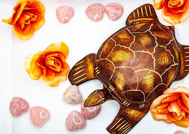 """Rose Quartz Heart 1""""Crystal (Polished)"""