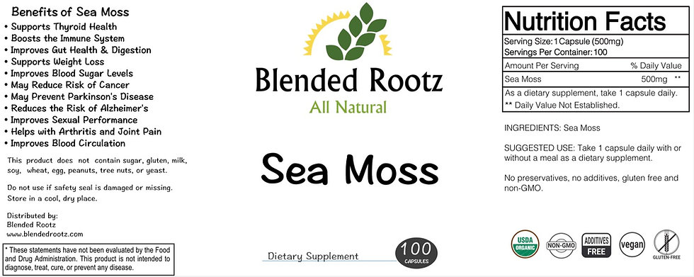 Sea Moss Capsules - 100 Count