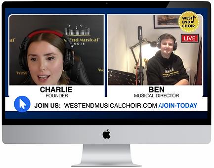 Image of virtual rehearsals in screen de