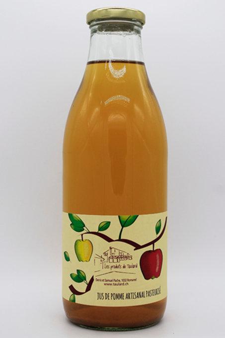 Jus de pommes artisanal pasteurisé