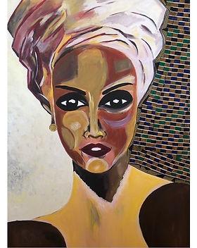 Myriam Koné - _Femme au foulard_ - 2020