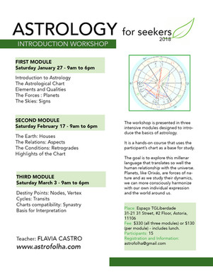 Astrplogy Workshop