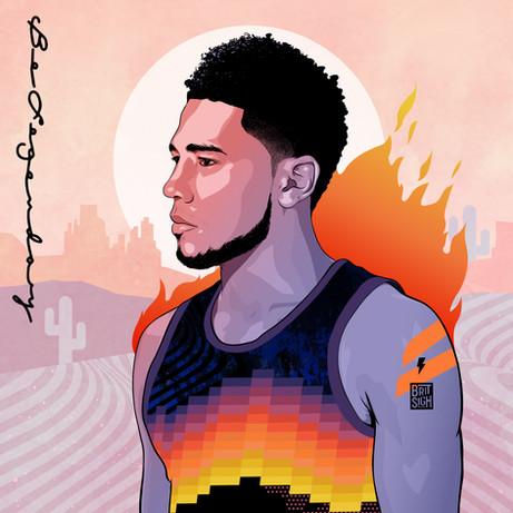 Devin Booker on Fire