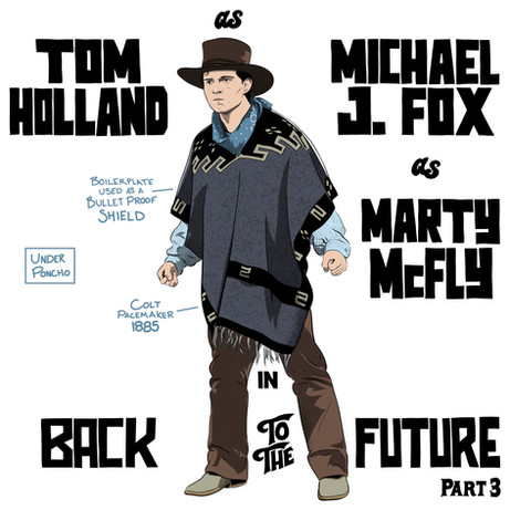 Tom Holland / Marty McFly