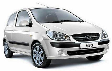 white Hyundai Getz hatchback