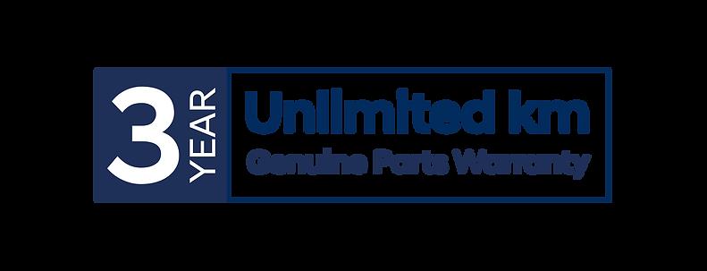 3yr Unlimited Genuine Parts Warranty log