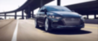brand new hyundai elantra turbo sport driving on the highway