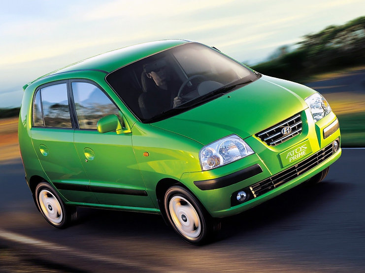 orignal Hyundai Atos in green