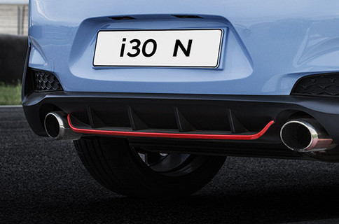 Purpose-built rear bumper