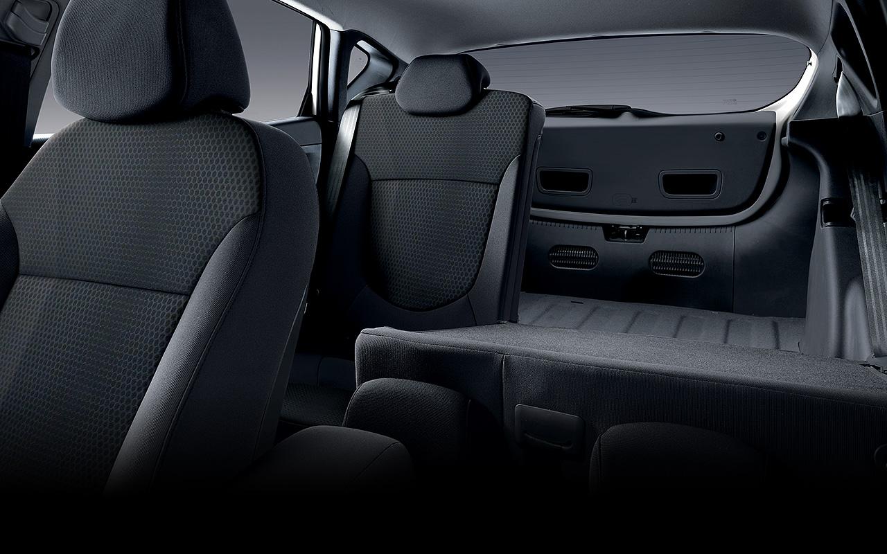 60/40 folding rear seats.