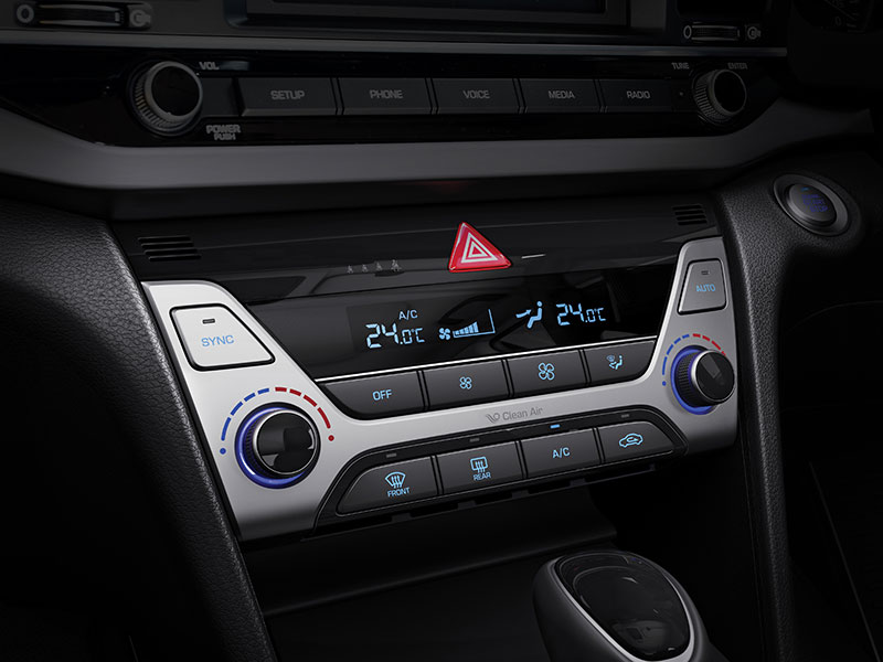 Dual-zone automatic a/c