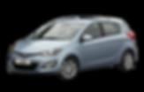 light blue Hyundai i20 old spec hatchback