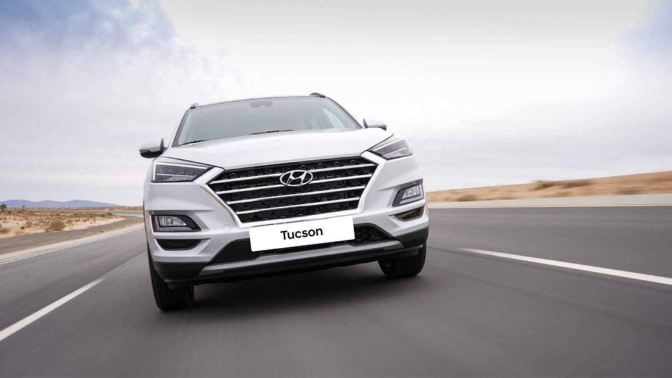 Hyundai Tucson Facelfit in motion_front