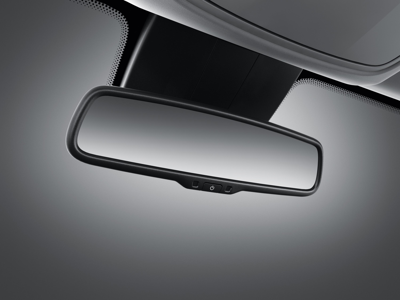 Electrochromatic rearview mirror.
