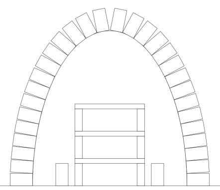 Arch with Shelf