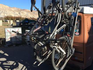 Swing away bike rack