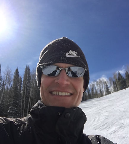 CPA and Tax Manager Chris Trotter while skiing.