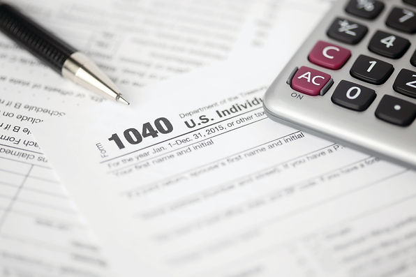 Stock image of a US tax return.