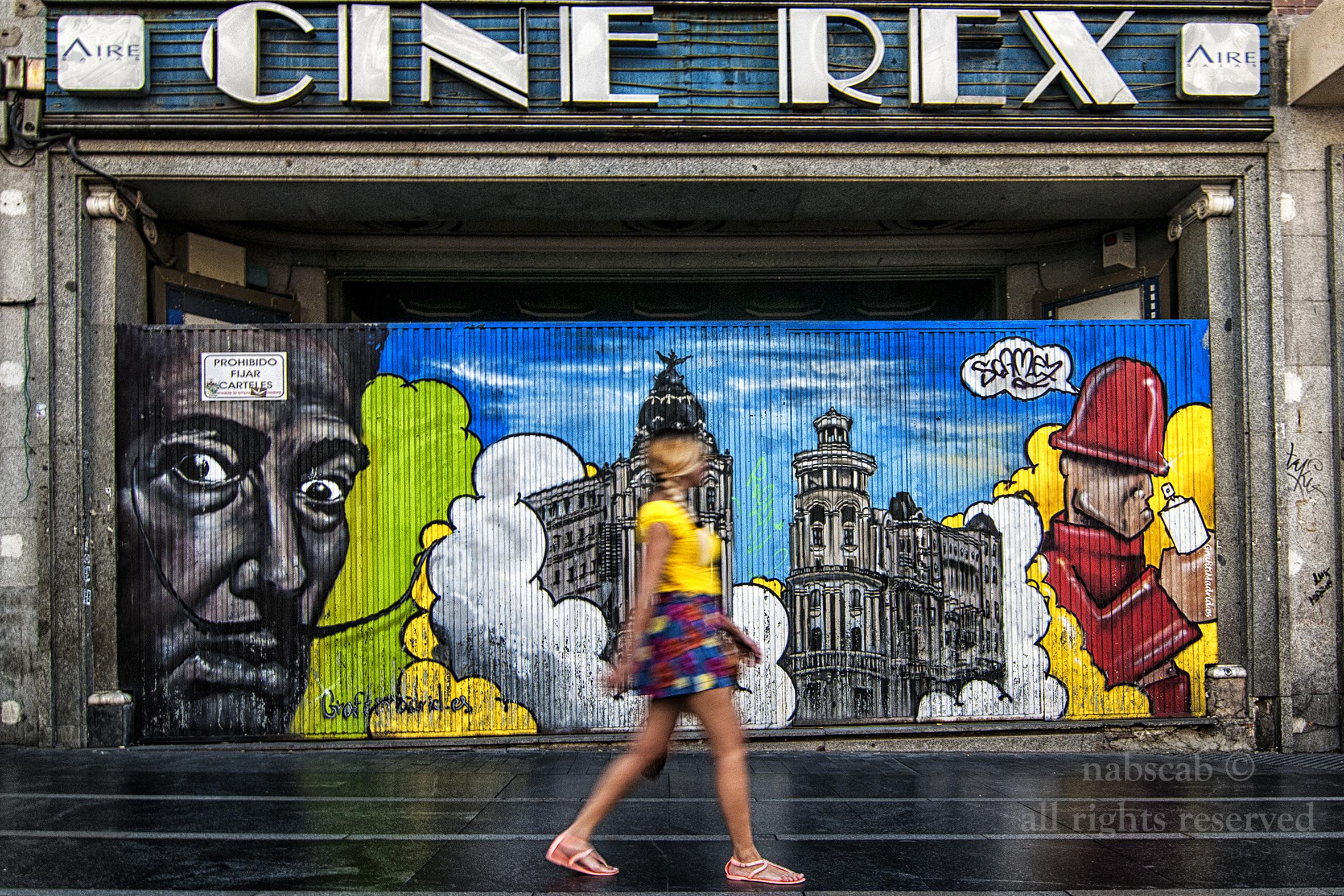 grafiti dali gran via Concurso