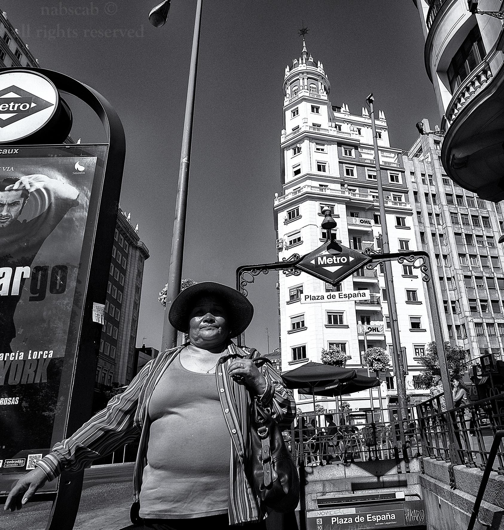 Turista en Plaza de España