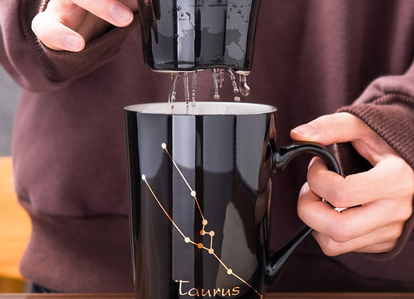 12oz Constellation Mugs with Steeper & Spoon