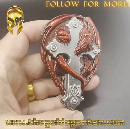 Dragon Skull Enameled