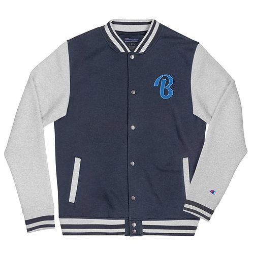 "Embroidered Biblocrat Bomber Jacket ""B"""