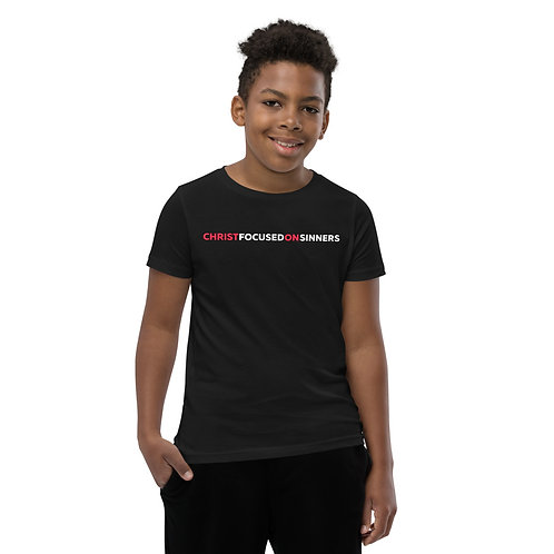 Youth Christ Focused On Sinners T-Shirt
