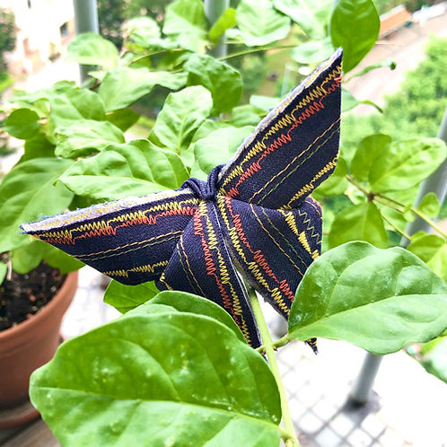 Stitched Origami Butterfly #05 one-of-a-kind brooch by Lie Fhung