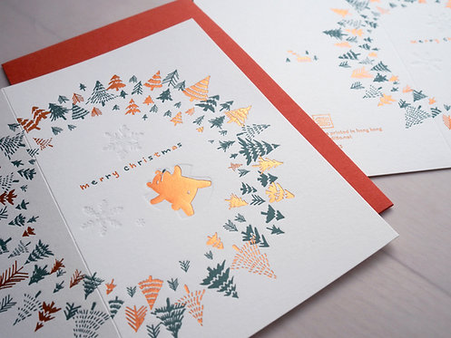 First Snow Christmas Greeting Card