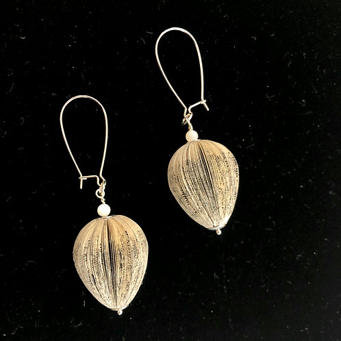 BIG SEED EARRINGS - one-of-a-kind paper jewellery by Janet Mark