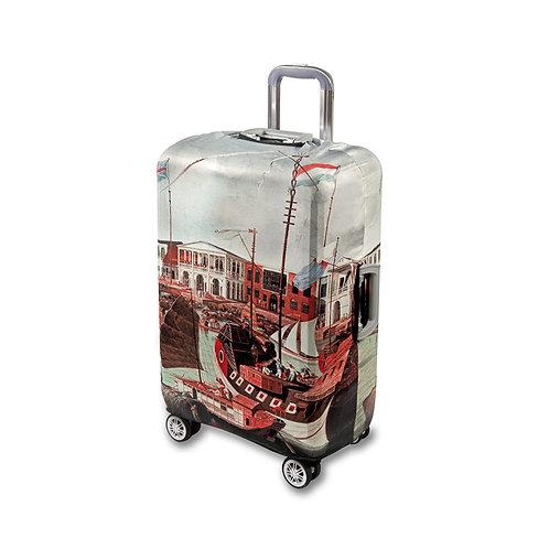 威廉.丹尼爾 -《廣州商館早期風貌》行李保護套  Guangzhou Factories Luggage Cover