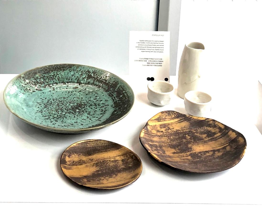 some of Espella's ceramic works