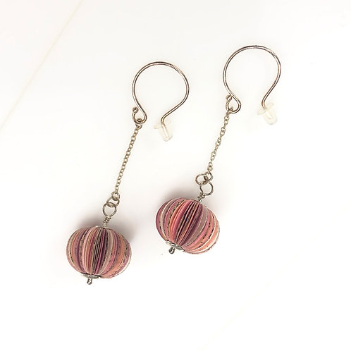 BLUSH EARRINGS - one-of-a-kind paper jewellery by Janet Mark