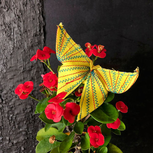 Stitched Origami Butterfly #20 one-of-a-kind brooch by Lie Fhung