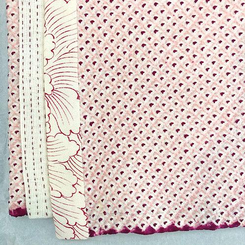 Pink Shibori Vintage Silk Kimono Scarf - Miranda Tsui