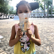 our youngest participant Fei-Fei with her awesome watercolour painting