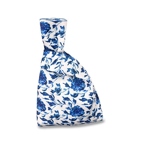 《青花螭龍纏枝牡丹紋瓶》日式布袋  Blue and White Cloth Bag