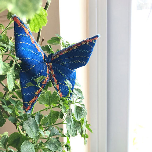 Stitched Origami Butterfly #08 one-of-a-kind brooch by Lie Fhung