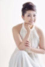 Asako Tamura White Dress Updo