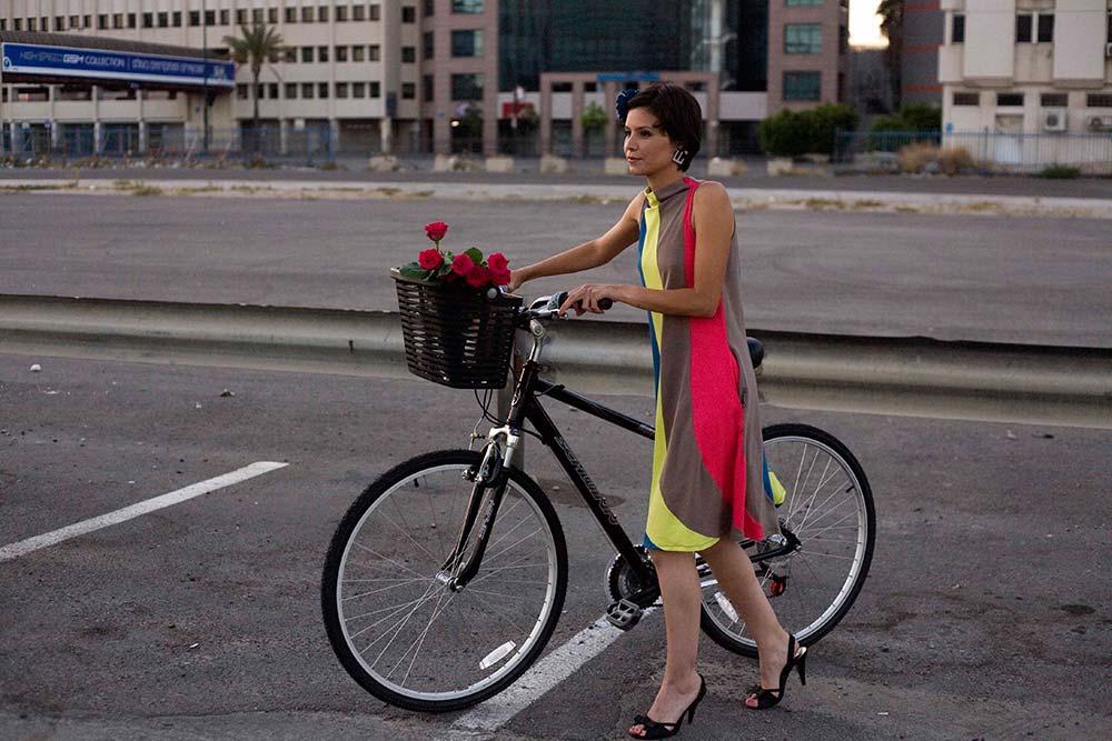 Model with Bike