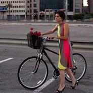 Modèle avec vélo