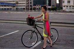 Modelo con la bici