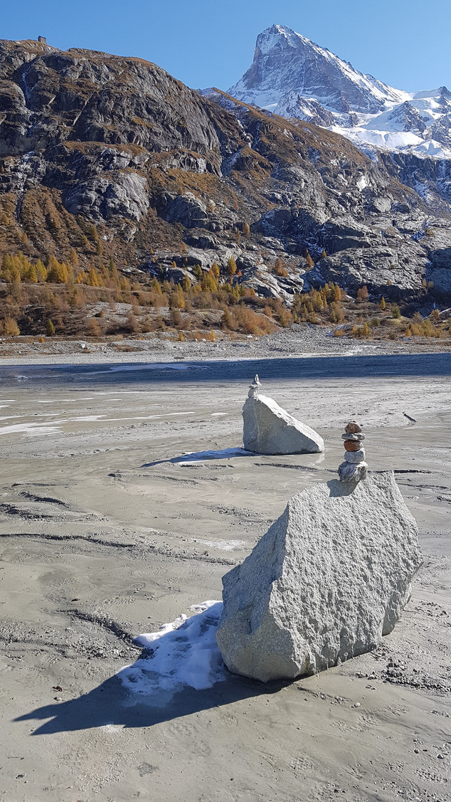 Kunst in der Gletschermoräne