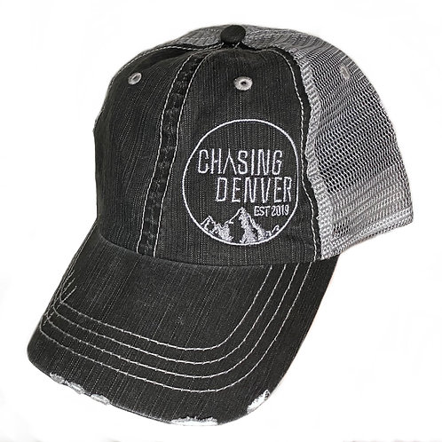 Lightweight Distressed Stitched Hat